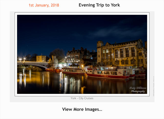 1st January, 2018 Evening Trip to York  View More Images…
